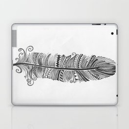 Black and White Feather Zen Laptop & iPad Skin