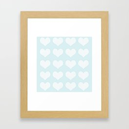 Lace Hearts Pattern Framed Art Print