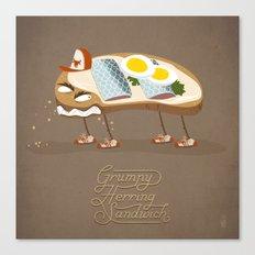 Grumpy Herring Sandwich Canvas Print