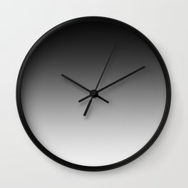 Black to White Horizontal Linear Gradient Wall Clock