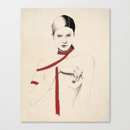 Ruban Rouge série - Lucia Canvas Print