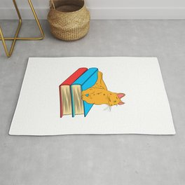 Fan of books? Fan of Cats? No need to choose with this fabulous and perfect tee made for you!  Rug