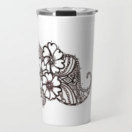 34. Daisy Henna with Paisley in Brown Travel Mug