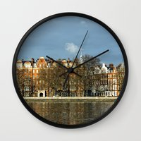 chelsea Wall Clocks featuring Sunlit Chelsea by Laura George