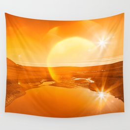 Twin Suns of Point Reyes - Gold Bokeh Bliss Wall Tapestry