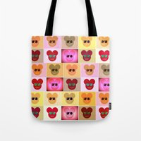 mike wrobel Tote Bags featuring Mike by bisualhart