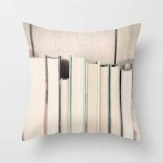The Book Collection Throw Pillow