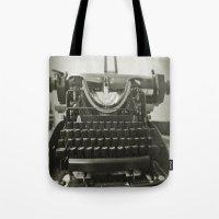 """typewriter Tote Bags featuring typEwriTer by """"CVogiatzi."""