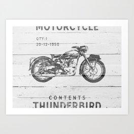 Vintage Triumph Thunderbird Motorcycle Art Print