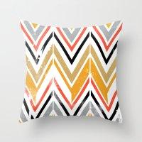 herringbone Throw Pillows featuring herringbone by Emmy Winstead