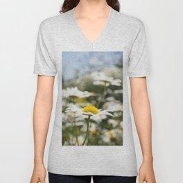 Daisy Flower Unisex V-Neck