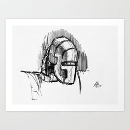 Warbot Sketch #068 Art Print