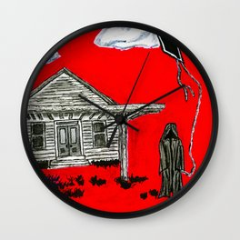 leisure time of the grim reaper Wall Clock