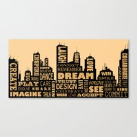 motivational Canvas Prints featuring Motivational by Andreea Red