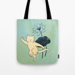 Tai Chi Cat 02 Tote Bag