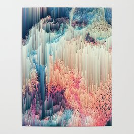 Fairyland - Abstract Glitchy Pixel Art Poster