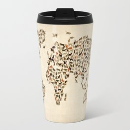 Cats Map of the World Map Travel Mug