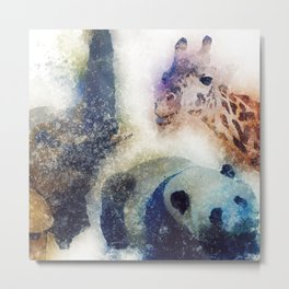 Animals Painting Metal Print