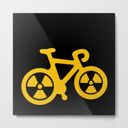 Radioactive Bicycle Metal Print
