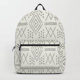 vintage moroccan - bone and black Backpack