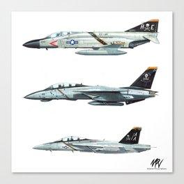 JOLLY ROGERS Trio Canvas Print