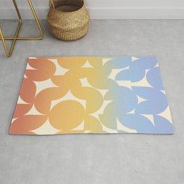 Abstract Shapes - Retro Rainbow Rug