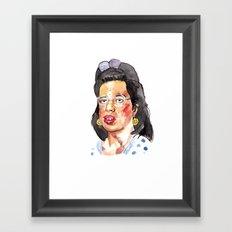 Dawn Wiener Watercolour Framed Art Print