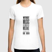 nietzsche T-shirts featuring Lab No. 4 - Friedrich Nietzsche Quote life music typography poster by Lab No. 4