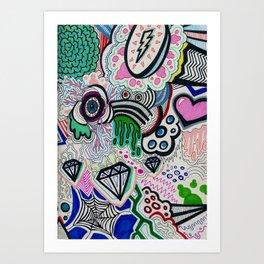 Crazy Design Art Print