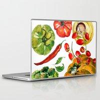 vegetable Laptop & iPad Skins featuring Vegetable mix by Liliya Kovalenko