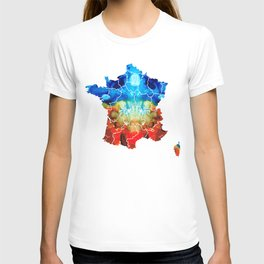 France - European Map by Sharon Cummings T-shirt
