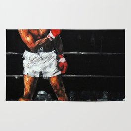 Ali knocks out Liston Rug