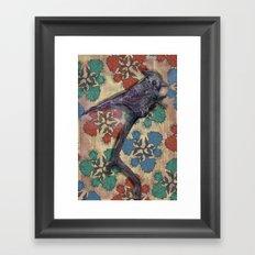 Weird bird Framed Art Print