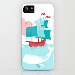 White Whale iPhone Case