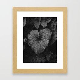 Grey Grey Heart Framed Art Print