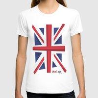 union jack T-shirts featuring Union Jack Flag by Tonio YUMUI