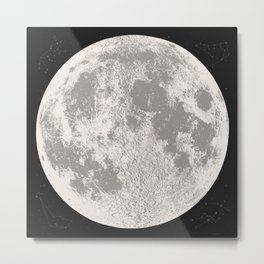 Full Moon Print (natural), by Christy Nyboer Metal Print
