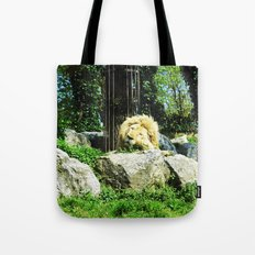THE LION SLEEPS TODAY Tote Bag