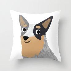 Cattle Dog - Cute Dog Series Throw Pillow