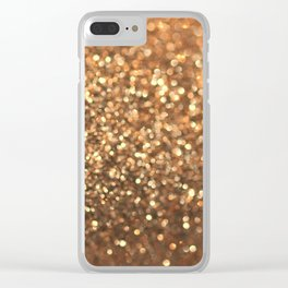 Summer Bronze Clear iPhone Case