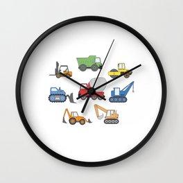 Construction Truck Expert Building Bulldozer  Wall Clock