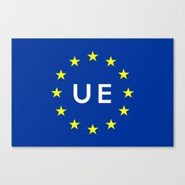 europe country european union  ue flag name text  Canvas Print