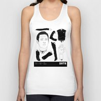data Tank Tops featuring Decommissioned: Data by Josh Ln