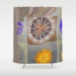 Sarcophagi Woof Flowers  ID:16165-112239-34720 Shower Curtain