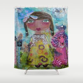 Phoebe & Poof - Whimsies of Light Children Series Shower Curtain