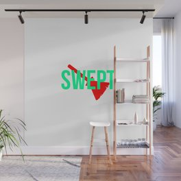 Swept Broom Challenge Funny Broomstick Wall Mural