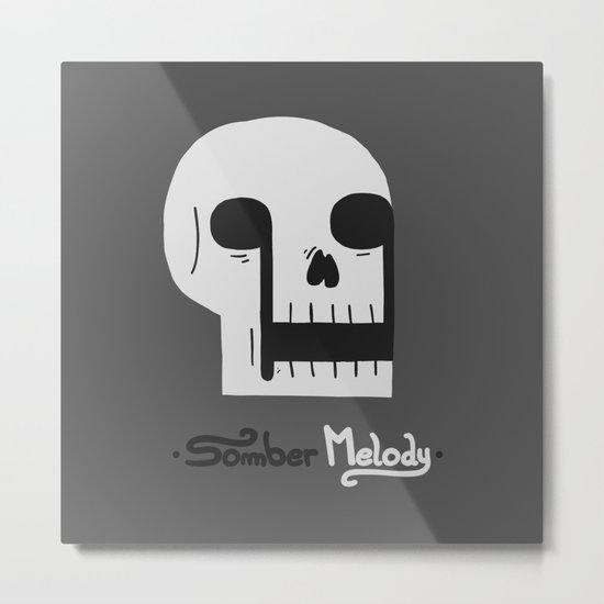 Somber Melody Metal Print