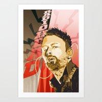 radiohead Art Prints featuring Radiohead by Ferdinand Bardamu