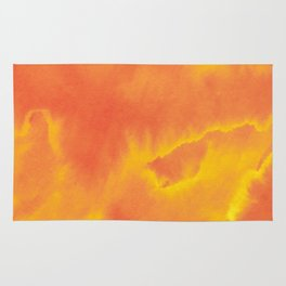Watercolor texture - yellow and orange Rug