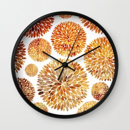 Floral Blaze Wall Clock